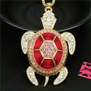 Necklace-NEW- Betsey Johnson Sea Turtle Ocean Life